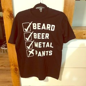 Beard, Beer, Metal, Pants Tshirt